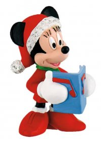 Disney Mickey Mouse & Friends Figure Minnie Christmas 7 cm