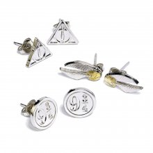 Harry Potter Naušnice 3-Pack Snitch/Deathly Hallows/Platform 9 3