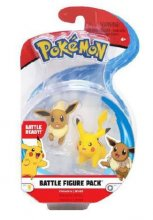 Pokémon Battle mini figurky 2-Pack Eevee & Pikachu 5 cm