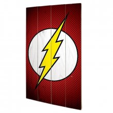 DC Comics dřevěný obraz The Flash Symbol 46 x 77 cm