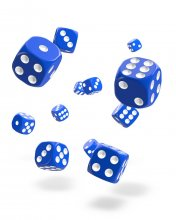 Oakie Doakie Kostky D6 Dice 12 mm Solid - Blue (36)
