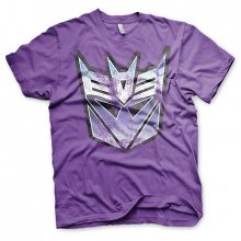 Transformers T-Shirt Distressed Decepticon Shield Purple size M