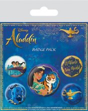 Aladdin sada odznaků 5-Pack A Whole New World