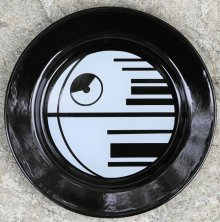 Star Wars Enamel Plate Death Star