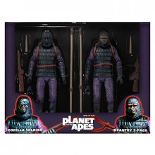 Planeta opic figurky Gorilla Soldier Infantry 18 cm 2-pack