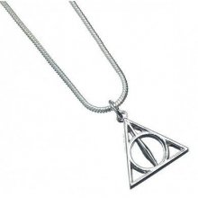 Harry Potter Pendant & náhrdelník Deathly Hallows (silver plated