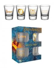 Lord of the Rings Shotglass 4-Pack