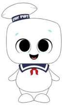 Ghostbusters Super Cute Plyšák Stay Puft 18 cm