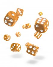 Oakie Doakie Kostky D6 Dice 12 mm Marble - Orange (36)