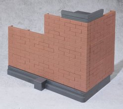 Tamashii Option Akční figurka Accessory Brick Wall (Brown Ver.)