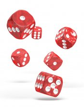 Oakie Doakie Kostky D6 Dice 16 mm Marble - Red (12)