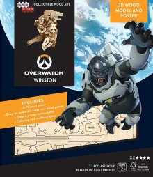 Overwatch IncrediBuilds 3D Wood Model Kit Winston