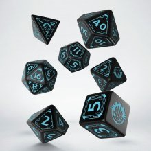 Starfinder Dice Set black & blue (7)