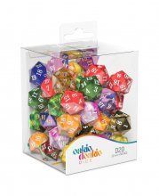 Oakie Doakie Dice D20 Spindown Dice Retail Pack 22 mm Mixed (50)