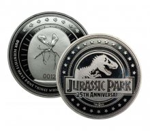 Jurassic Park Collectable Coin 25th Anniversary (silver plated)