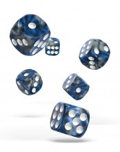 Oakie Doakie Kostky D6 Dice 16 mm Gemidice - Liquid Steel (12)