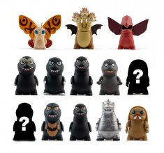 Godzilla Vinyl Figures 8 cm Display (24)