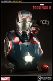 Iron Man 3 sběratelská busta 1/1 Iron Patriot 66 cm