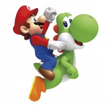 Nintendo Giant Vinyl Wall Decal Set Yoshi & Mario