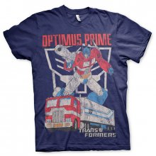 Transformers pánské tričko Optimus Prime Distressed Navy