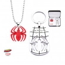 Spider-Man Stainless Steel Pendant with Steel Ball Chain & Keych