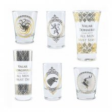 Game of Thrones Premium Shotglasses 6-Pack Black & Gold