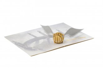 Harry Potter 3D Pop-Up Greeting Card Golden Snitch