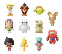 Disney 3D Rubber Keychain Series 4 Display (24)
