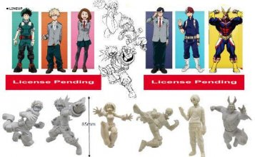 My Hero Academia Gashapon Buildable Figures 8 cm prodej v sadě (