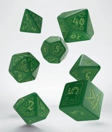 Call of Cthulhu Dice Set green & glow-in-the-dark (7)