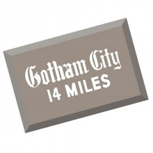 Batman 1966 TV Series Gotham City Metal Sign 2017 San Diego Comi