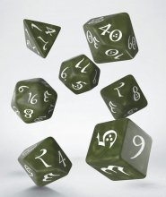 Classic RPG Dice Set olive & white (7)