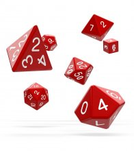 Oakie Doakie Dice RPG Set Solid - Red (7)