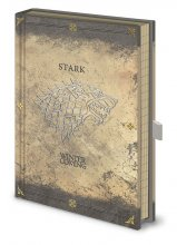 Game of Thrones Premium Notebook A5 Stark Worn