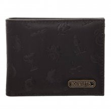 Harry Potter Bifold Wallet Embossed Symbols