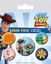 Toy Story 4 sada odznaků 5-Pack Friends for Life