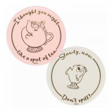 Beauty and the Beast Coaster 2-Pack Mrs Potts & Chip