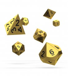 Oakie Doakie Dice RPG Set Metal Dice - Aurym (7)