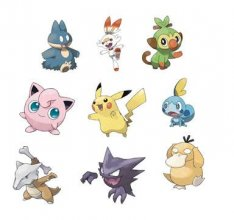 Pokémon Battle mini figurky Packs 5-7 cm Wave 5 prodej v sadě (6