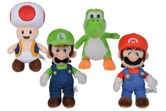 Super Mario Plush Figures All Stars 20 cm prodej v sadě (12)