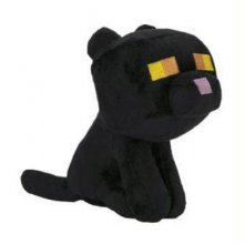 Minecraft Happy Explorer Plyšák Black Cat 18 cm