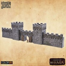 SAGA ColorED Miniature Gaming Model Kit 28 mm Defensive Wall