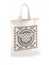 Wonder Woman Tote Bag Aztec Pattern