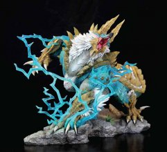 Monster Hunter Zinogre Diorama 1/10 The Thunder Wolf Wyvern 56 c