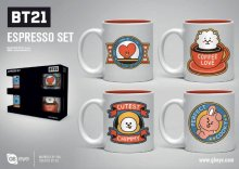 BT21 hrnky na espresso 4-Pack Icons