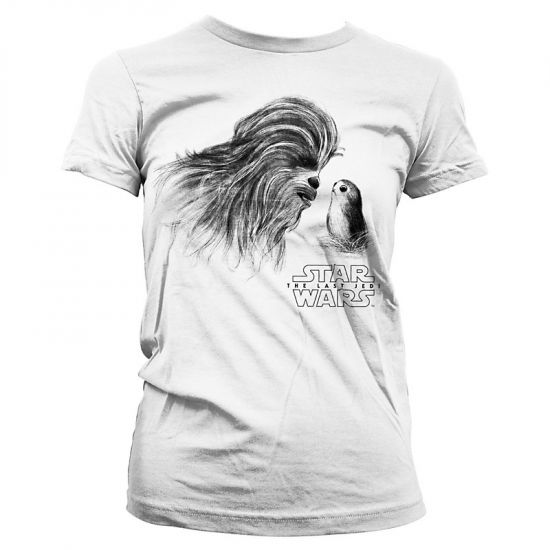 Dámské tričko Star Wars The Last Jedi Chewbacca   Porg  LF-5 ... aa1fa72867