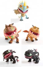 How to Train Your Dragon Action Vinyl Figures Dragons 15 cm Asso