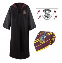 Harry Potter Budget Line Robe, Nectie & Tattoo Set Nebelvír Si