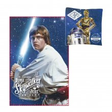 Star Wars Pillow & fleece deka Set Luke Skywalker & C-3PO & R