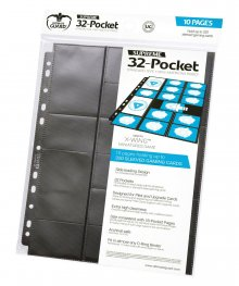 Ultimate Guard 32-Pocket Pages Standard Size & Mini American Bla